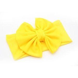 NEW baby toddler big bow yellow headband